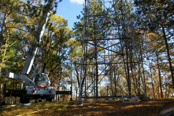 Fire tower installation