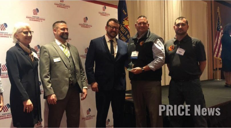 Price Erecting Announced Winner of Veteran Friendly Business of the Year at WVCC Awards