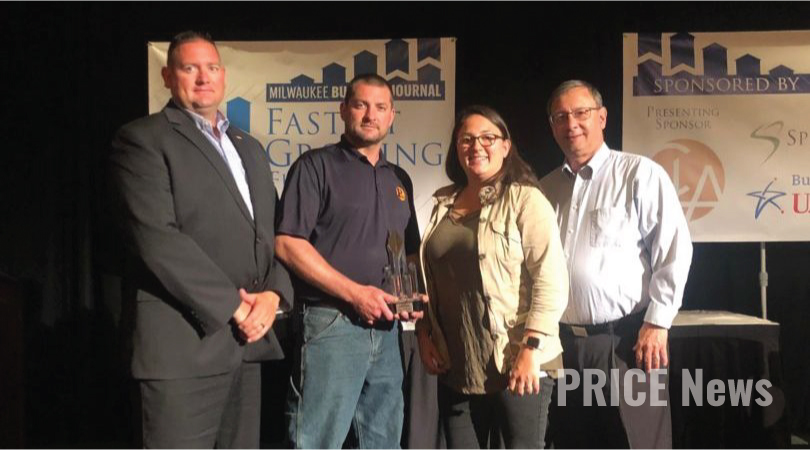Price Erecting recognized as one of Milwaukee Business Journal's Fastest Growing Firms