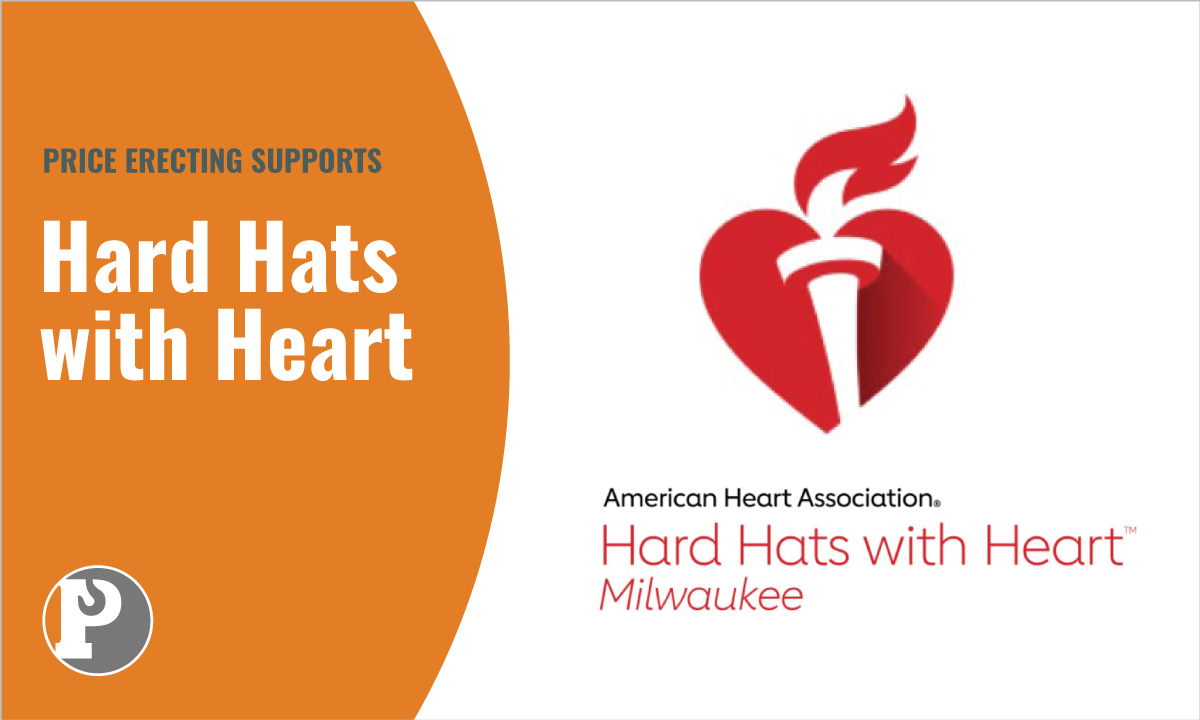 Price Erecting Supports Hard Hats with Hearts